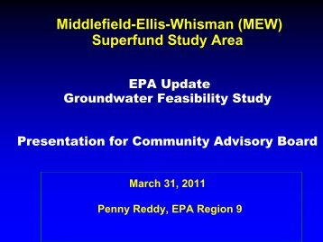 MEW Site Update - Documents for Moffett Field