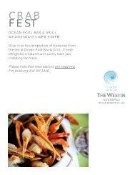 Crab Fest Flyer - The Westin Ka'anapali Ocean Resort Villas