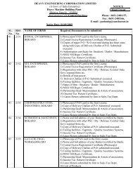 Vendor Status - Heavy Engineering Corporation Limited