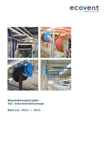 Abgasabsauganlagen für Schienenfahrzeuge Edition 2012 | 2013