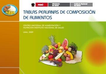 tablas peruanas de composición de alimentos - Revista Venezolana ...