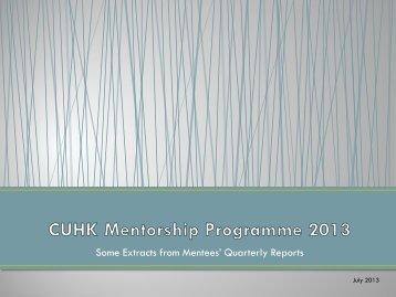 CUMP2013 - extract from quarterly report (Jan-Jun) - Career ...