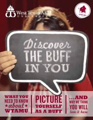 WHAT YOU - West Texas A&M University