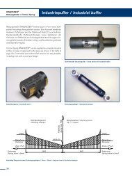 Industriepuffer / Industrial buffer - Ringfeder