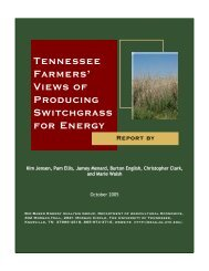 Tennessee Farmers' Views of Producing Switchgrass for Energy