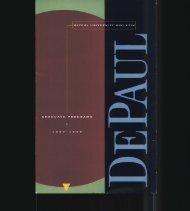 Graduate Programs (except CTI) - DePaul University