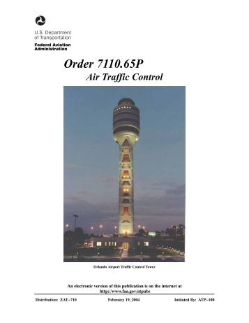 Order 7110.65P, Air Traffic Control, with changes