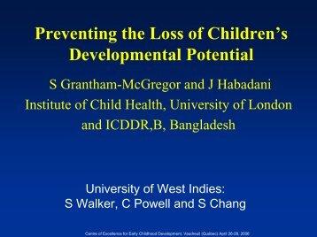 Preventing the loss of children's developmental potential