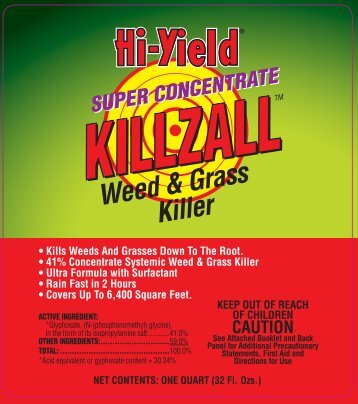 Label 33692 Super Concentrate Killzall Approved 4-19-13 - Fertilome
