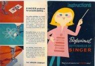 Singer Professional Buttonholer - ISMACS