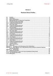 Annex C Residual Stress Profiles