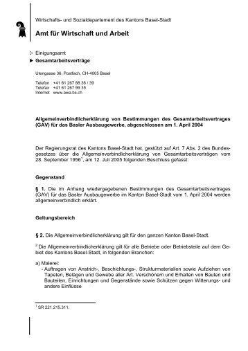 Amt für Wirtschaft und Arbeit - Kanton Basel-Stadt