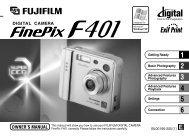 FinePix F401 Owner's Manual - Fujifilm Canada