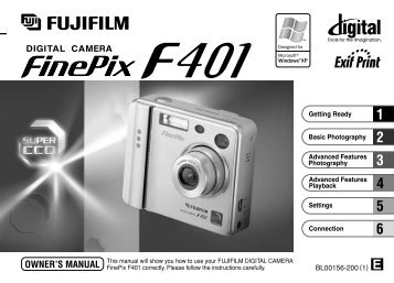 FinePix F401 Owner's Manual - Fujifilm Canada