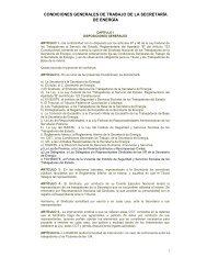 Condiciones Generales de Trabajo - Secretaría de Energía