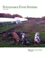 Sustainable Food Systems - College of the Atlantic