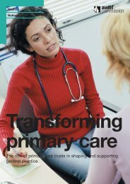 Audit Commission Report - Health in Wales
