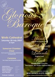 baroque final leaflet.p65 - Somerset Chamber Choir