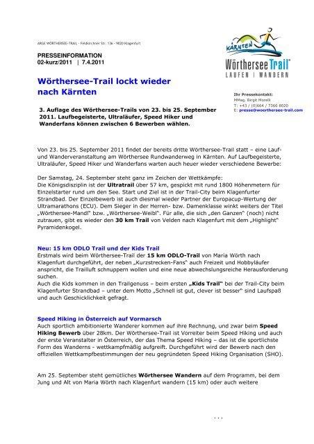 Wörthersee-Trail lockt wieder nach Kärnten - trail-maniak