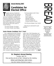 Candidates for Elected Office - St. Stephen and the Incarnation ...