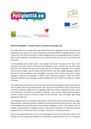 EXECUTIVE SUMMARY – Evaluation Report: A ... - Poliglotti 4