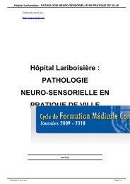 Hôpital Lariboisière : PATHOLOGIE NEURO ... - SNORL