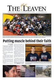 putting muscle behind their faith - The Leaven