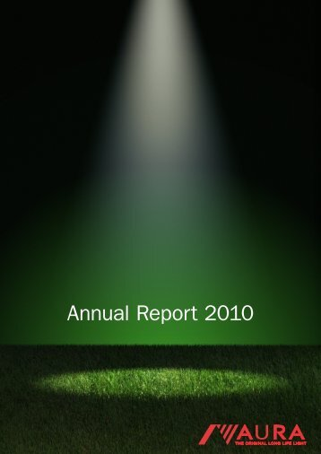 Annual Report 2010 - Green Solutions from Sweden
