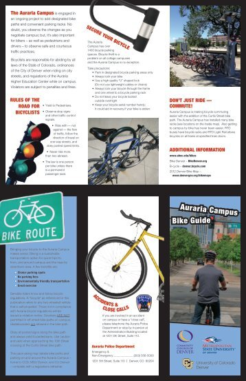 Bike Guide Auraria Campus - Auraria Higher Education Center