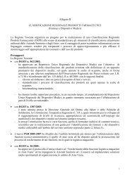 Allegato B CLASSIFICAZIONE REGIONALE PRODOTTI ... - Sifo