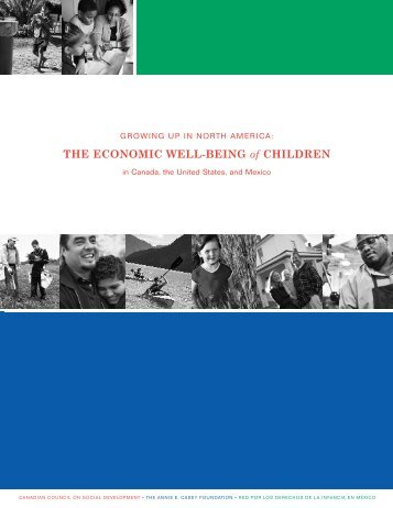 THE ECONOMIC WELL-BEING of CHILDREN - Canadian Council ...