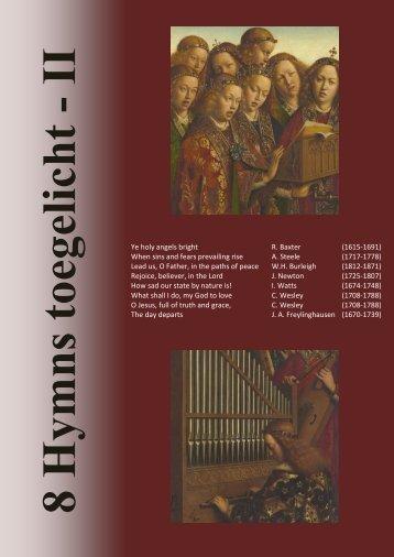 Hymns 2013 met toelichting - Engelse hymns in Vianen