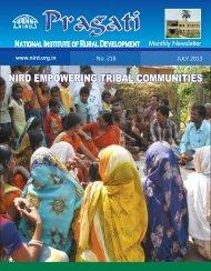 july 2013 - National Institute of Rural Development