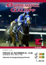 Program 30 november_kompl oppslag.pdf - Øvrevoll Galoppbane