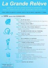 N° 1094 janvier 2009 - Association pour l'Économie Distributive