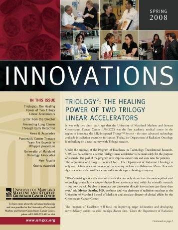 Innovations Newsletter - UMMC Physicians - University of Maryland ...