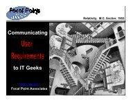 Communicating Requirements - AIM Institute