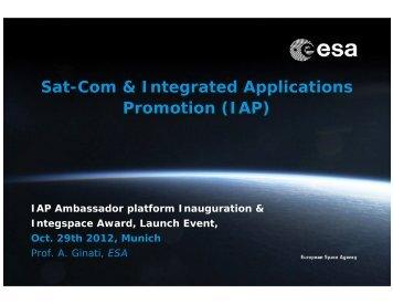 Sat-Com & Integrated Applications Promotion (IAP) - bavAIRia eV