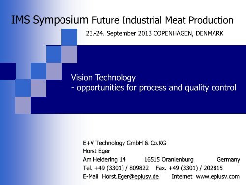 opportunities for process and quality control