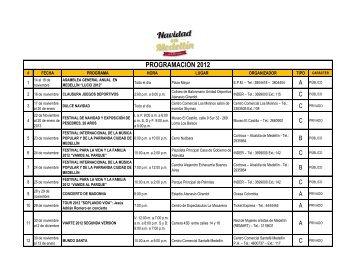 Programación Navidad 2012 - Colegio Mayor de Antioquia