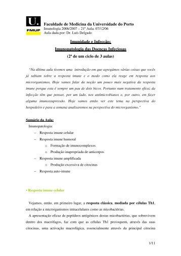 Imunidade e infecção. Imunopatologia das doenças infecciosas—II