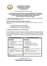 INVITACION PUBLICA No 030[1] - Viterbo