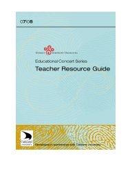 Teacher Resource Guide - Detroit Symphony Orchestra