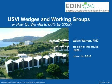 USVI Wedges and Working Groups: How Do We Get to 60% by 2025?