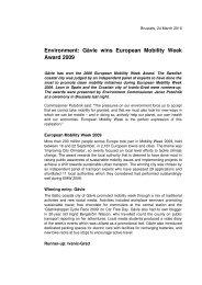 Gävle wins European Mobility Week Award 2009