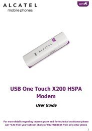 USB One Touch X200 HSPA Modem