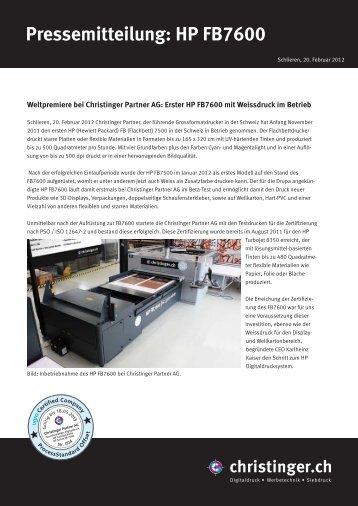 Pressemitteilung: HP FB7600