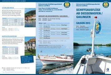 Diessenhofen - Schweizerische Schiffahrtsgesellschaft Untersee ...