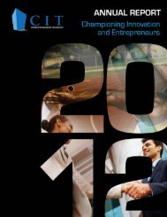 annual-report-2012 - Center for Innovative Technology