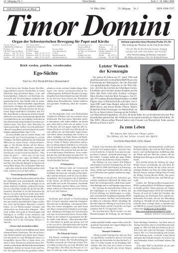 Ego-Süchte - Publikationen des Christiana Verlags